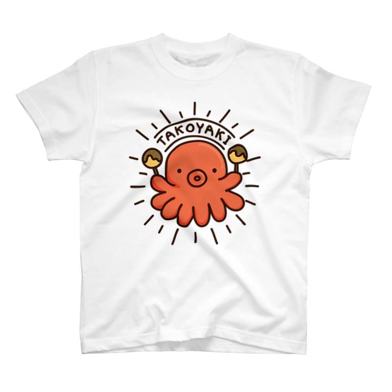 Cɐkeccooのらくがきシリーズ‐たこ焼きマニア T-shirts