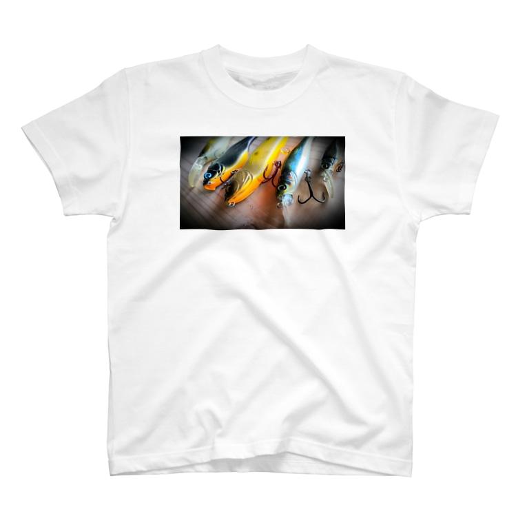 WOOD-BEARのFishing-Tシャツ T-Shirt