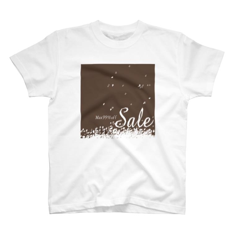 MAX99%OFFのSALE MAX99%OFF 雪しんしん T-shirts