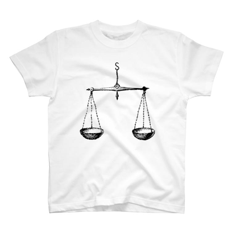 APHRODITEのてんびん座(Libra)_BlackPrint T-shirts