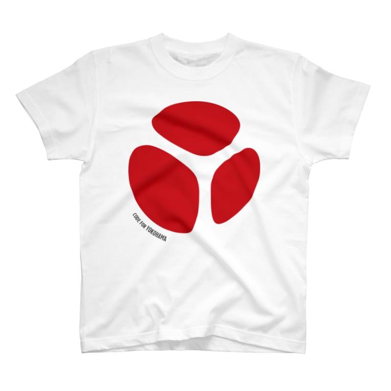 C4YのC4Y大判ロゴデザイン T-shirts
