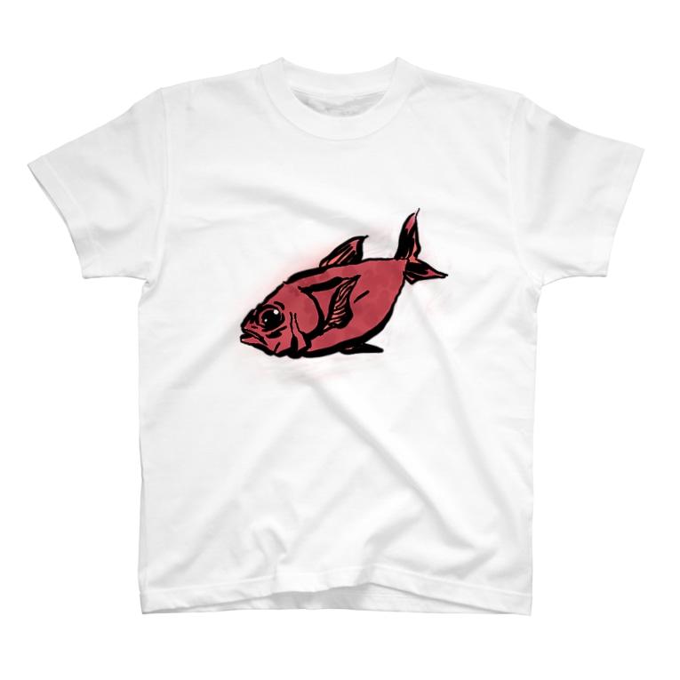 まじんさん@lineスタンプの調理前キンメダイ T-shirts