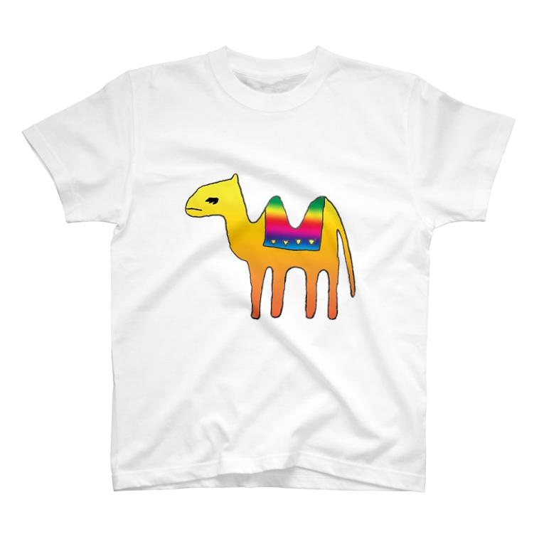 あぴこのおみせの眠たいラクダ T-shirts