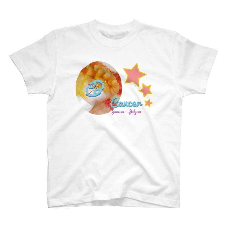 フォーヴァのCancer-かに座-ハッピーベイビーハンズ- T-shirts