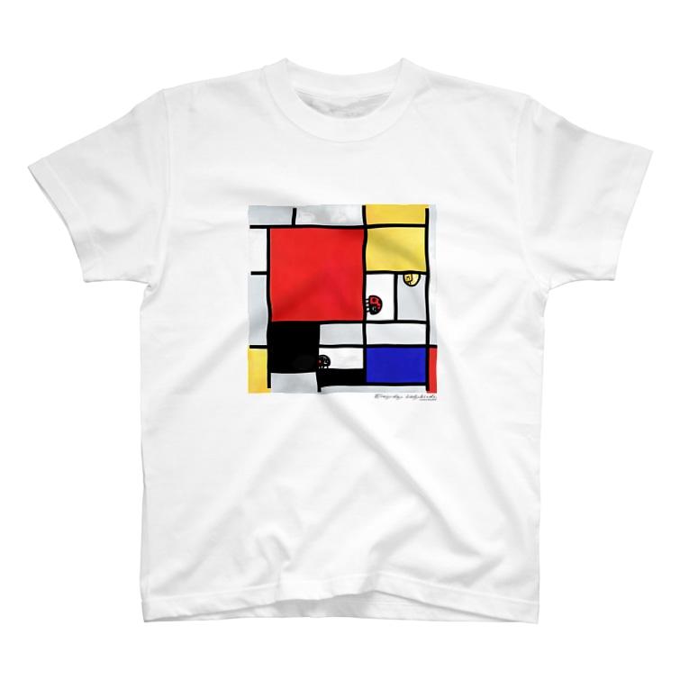 ノザキ-Nozakiの名画を楽しむてんとう虫〜カラフルな絵画〜 T-Shirt