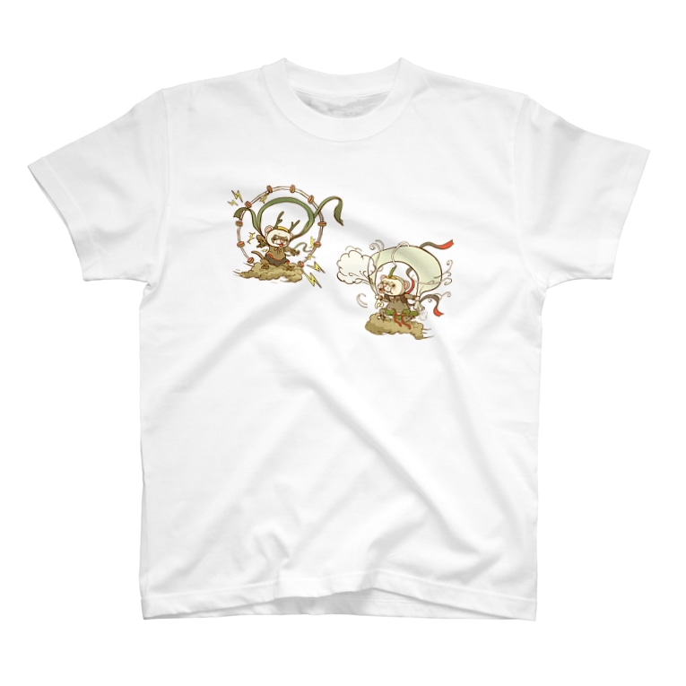 sasabayashi8の荒ぶるかた達 風神雷神 T-shirts