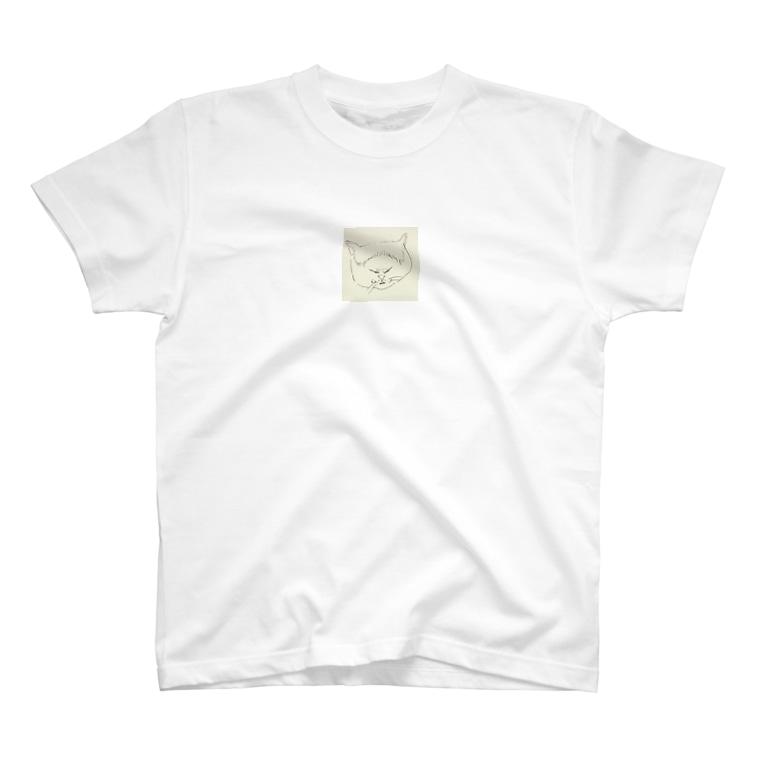 いしくみ動物園のおでこ猫 T-shirts