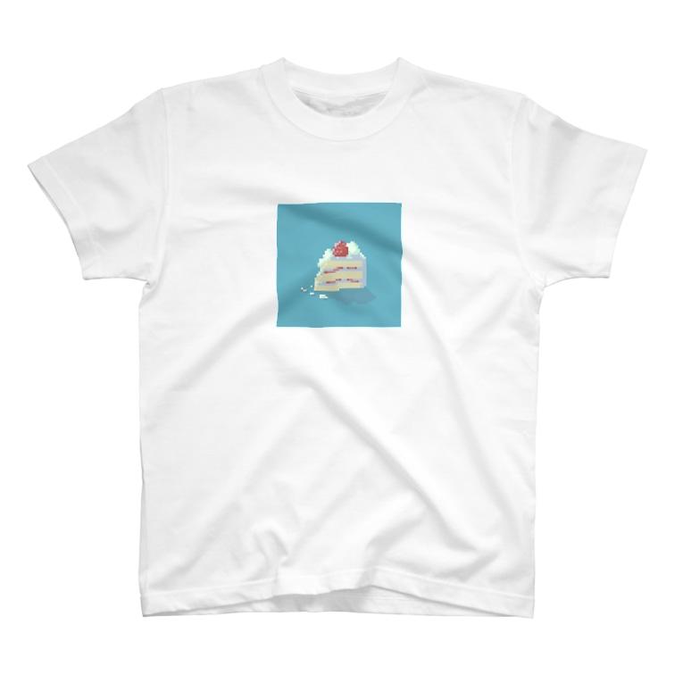あん。の食べかけのショートケーキ T-shirts