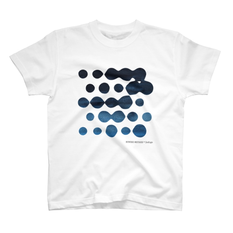 BUNCHO METHOD STOREの【インディゴ】 5x5 Dots T-shirts