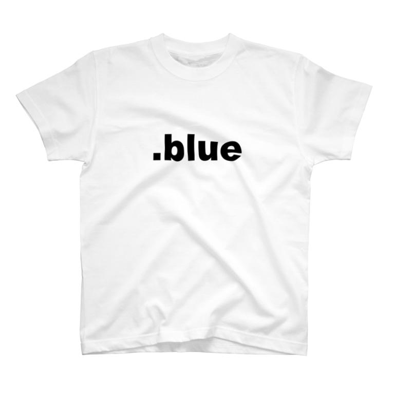 spherulesの.blue Black T-shirts