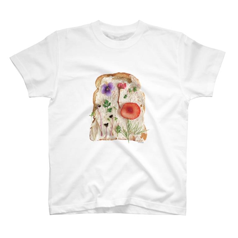 ℂ𝕙𝕚𝕟𝕒𝕥𝕤𝕦 ℍ𝕚𝕘𝕒𝕤𝕙𝕚 東ちなつの押し花トースト T-shirts