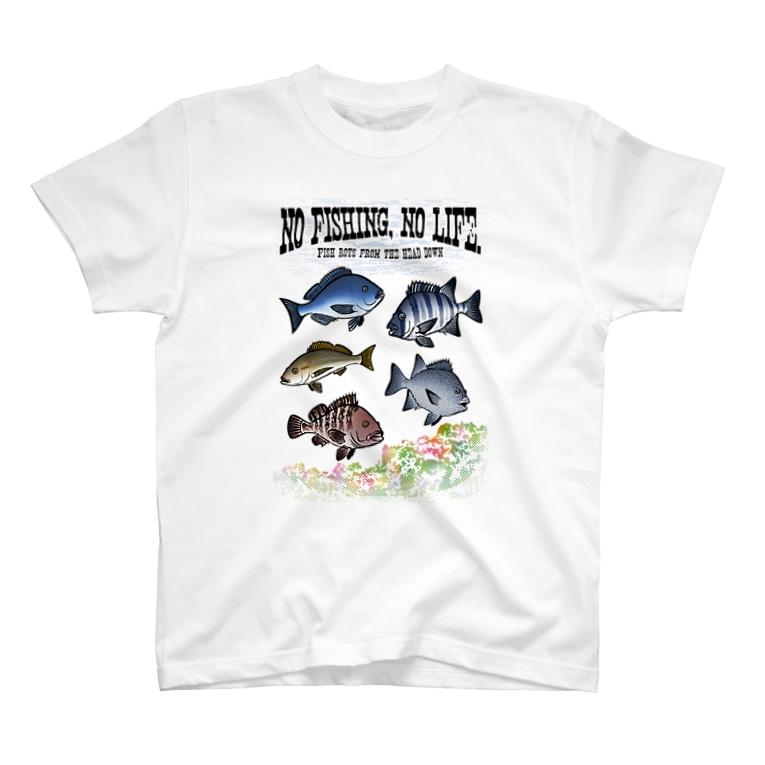 猫と釣り人のFISHING_S4C T-shirts