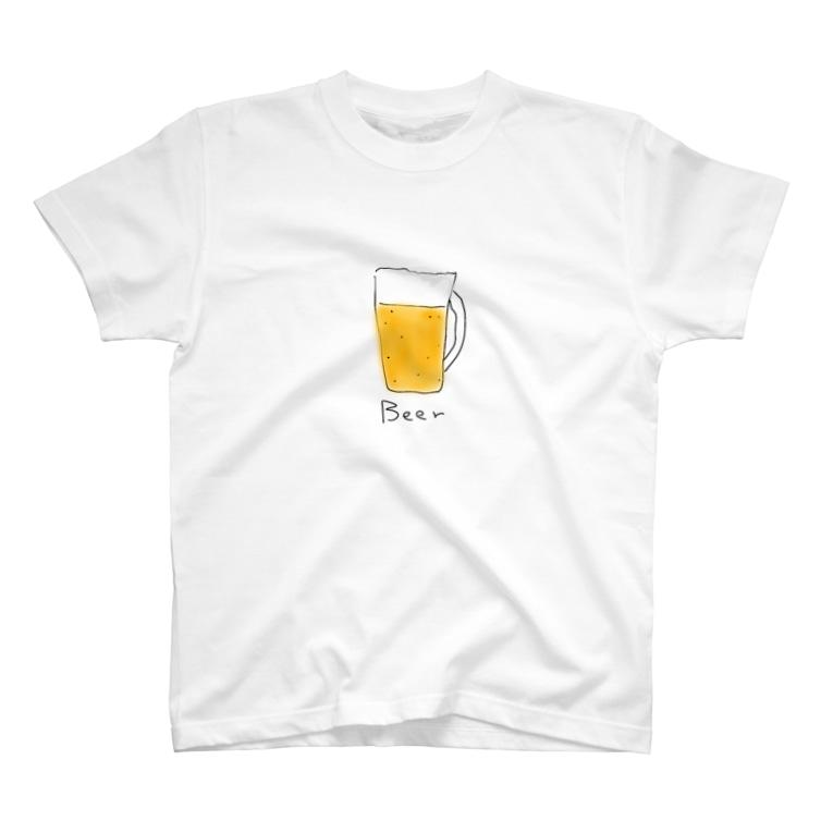 mo shopのビール T-shirts
