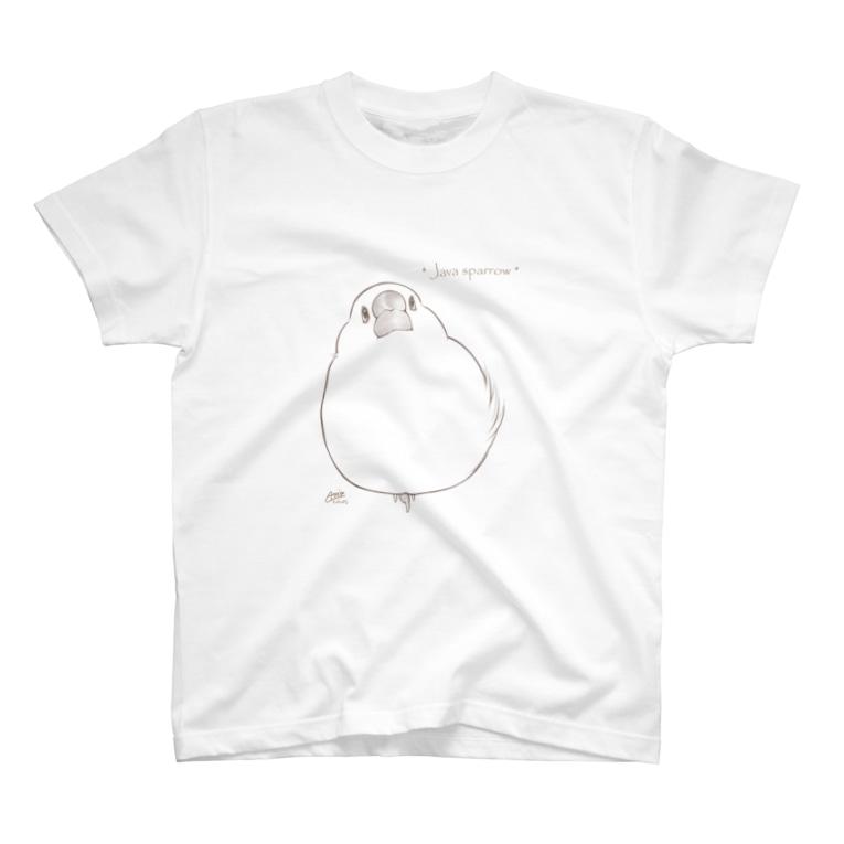 とっ・とっ・pi♪の* Java sparrow * T-Shirt