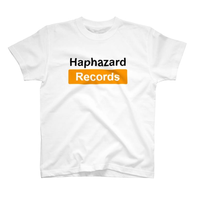 Haphazard Records Goods STOREのHaphazard Records Rare White T T-shirts