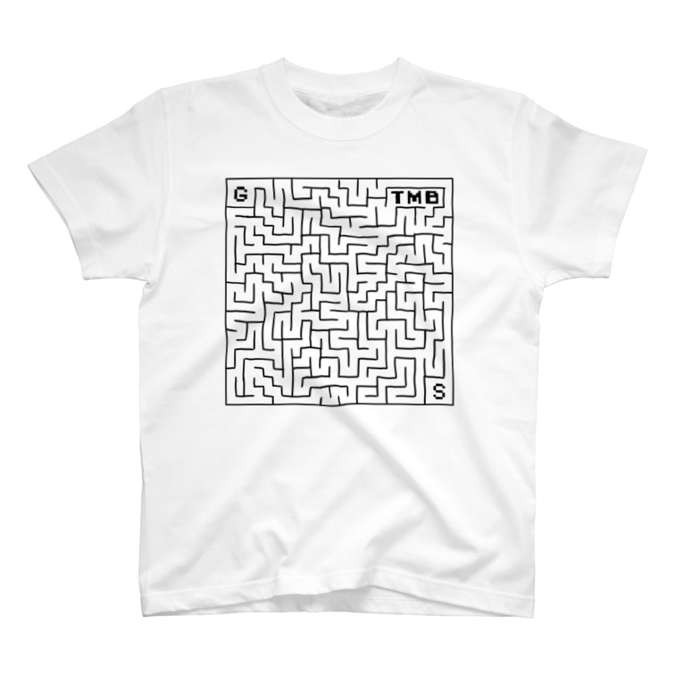 タイムマシン部グッズショップのタイムマシン部迷路Tシャツ(黒字) T-shirts