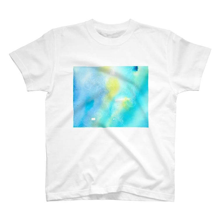 ばすてのギヤマンハナクラゲ*white T-shirts