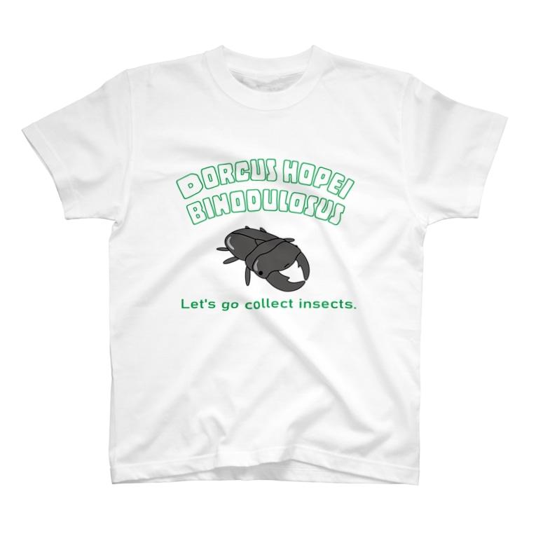 rokaのオオクワくんTシャツ T-shirts