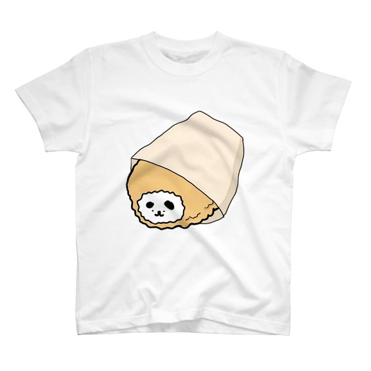 キチィちゃんと化け物腕鼠の一生の揚げイーヌ(コロッケ〜) T-shirts