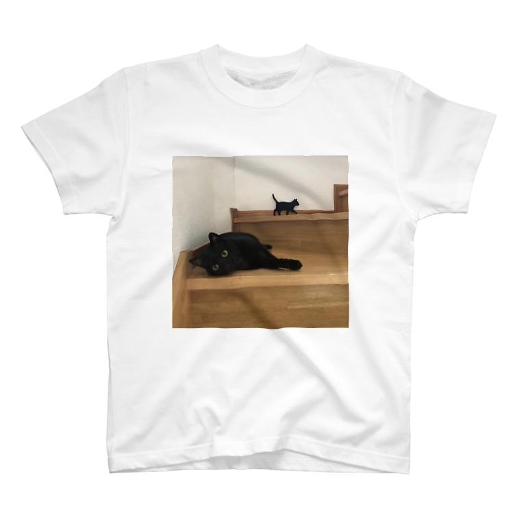 保護猫支援ショップ・パール女将のお宿の黒猫ちゃんのつどい T-Shirt