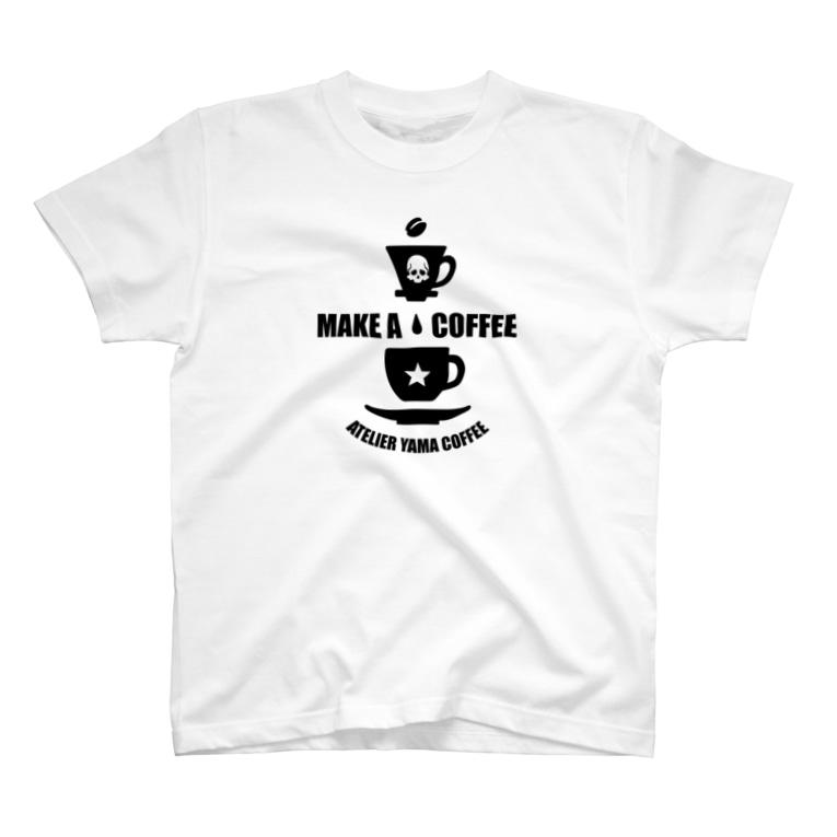 Atelier YAMA store -アトリエ ヤマ ストア-の【MAKE A COFFEE】ホワイト T-Shirt