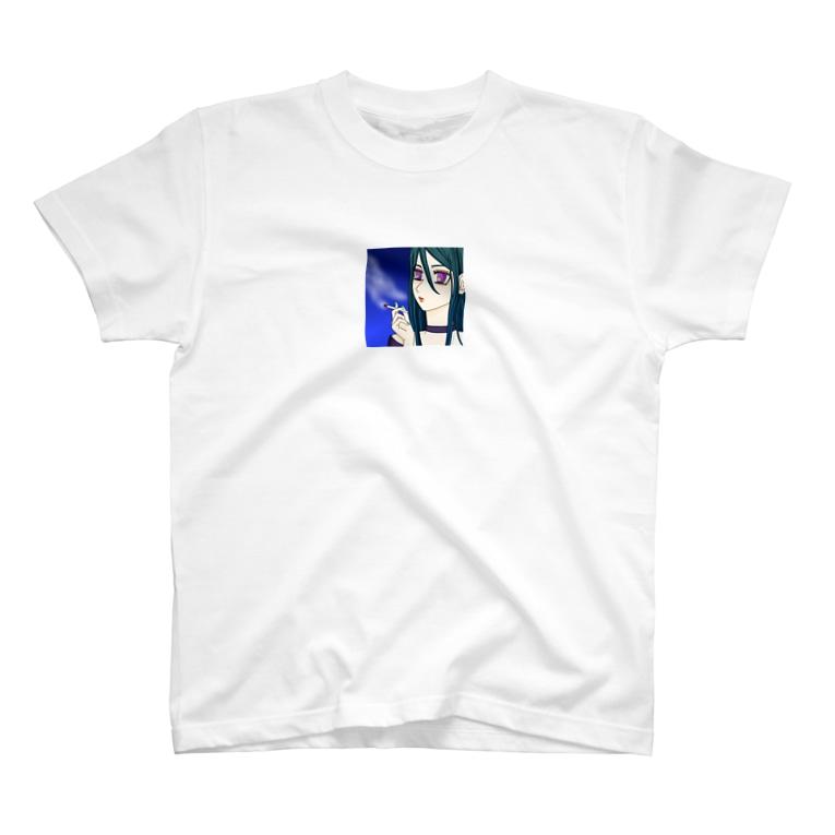 ガールズルームのクールタバコ女子 T-shirts