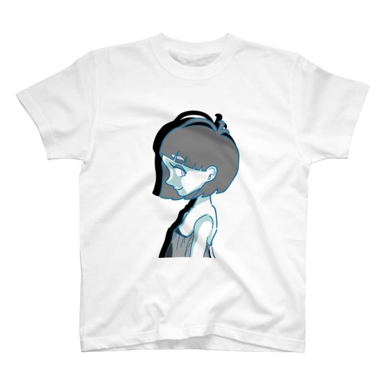 ぷいんの横顔の女の子 T-shirts