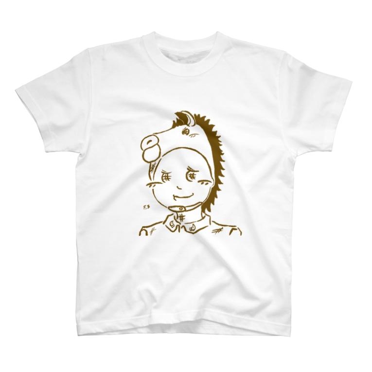 スマホdeイラストレーター・古川 セイのウマ吉 T-shirts