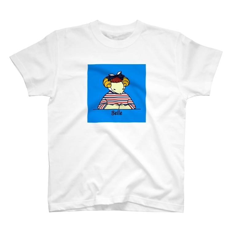 BonBonのトリコロールベル(背景あり) T-shirts