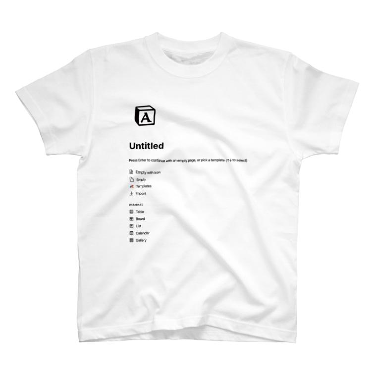 notionのA-untitled Basic T-Shirt notion T-shirts