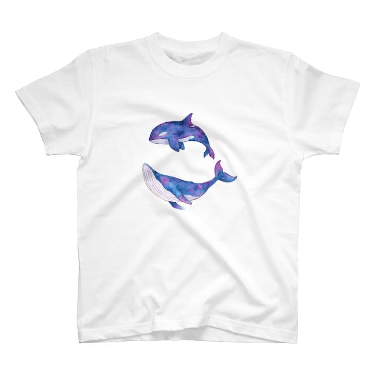 そらとのしゃちとくじら T-shirts