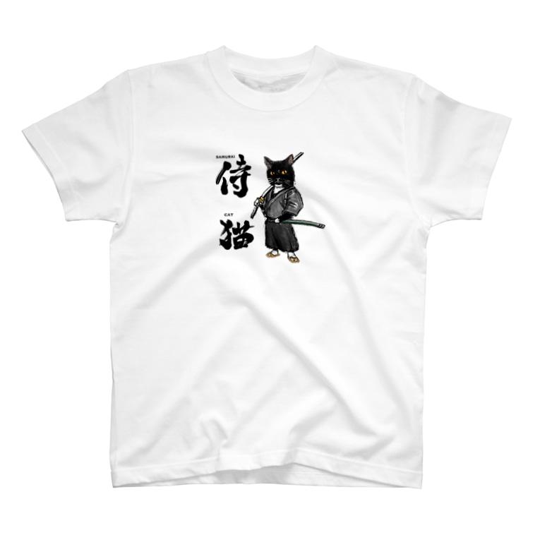 ぽめら兄ぃやんのSAMURAI CAT T-Shirt