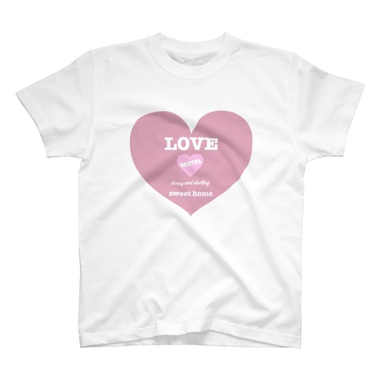 ゆるいぐっずを生み出す母のLOVE MOTEL  T-shirts