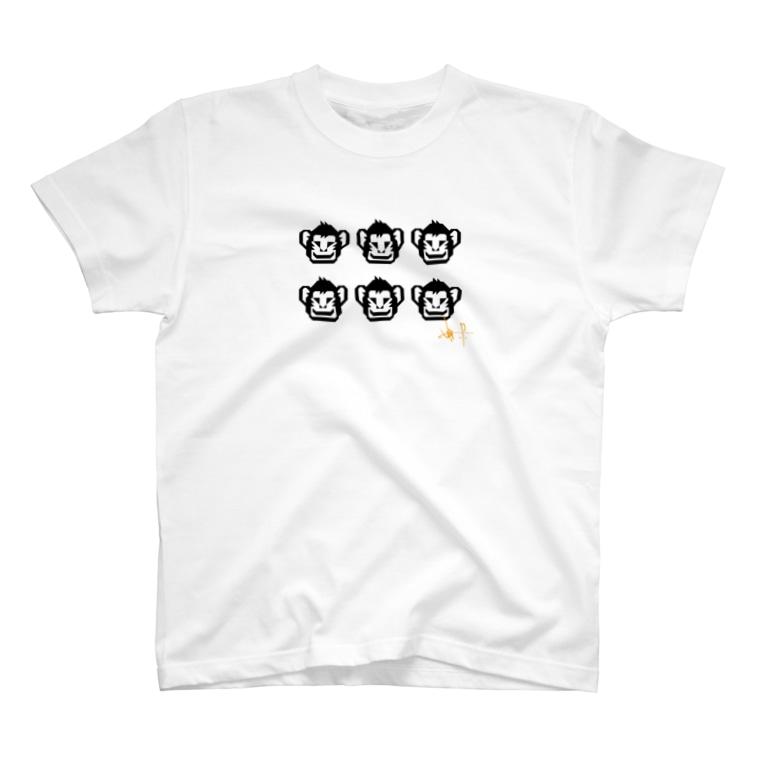 ふぁんきぃの6人分真正面一人用Tシャツ T-shirts