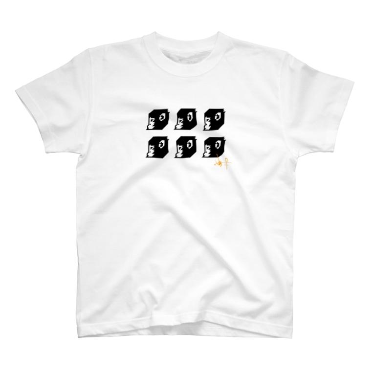ふぁんきぃの6人分真横一人用Tシャツ T-shirts