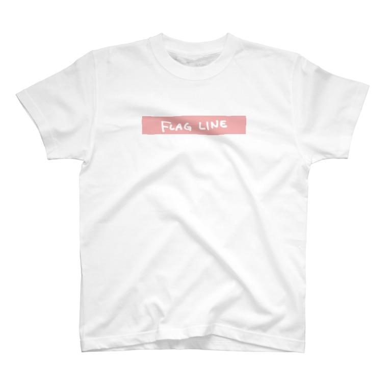 バムのこっち向いてフラッグガール T-shirts