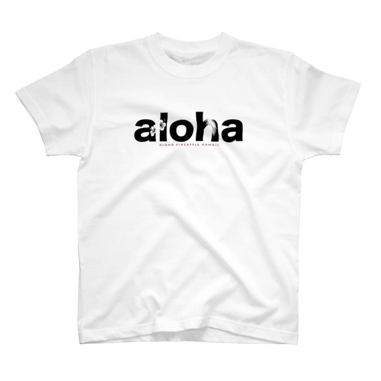 aloha_pineapple_hawaiiのaloha (black)166 T-shirts