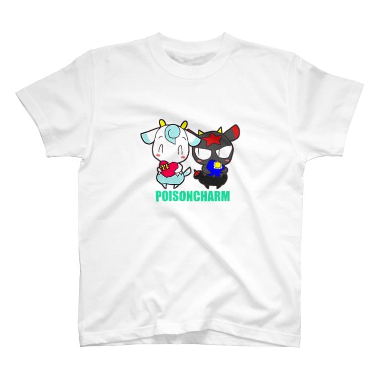 POISONCHARM電脳露店2号のアオヤギさんとミヤギちゃん T-shirts