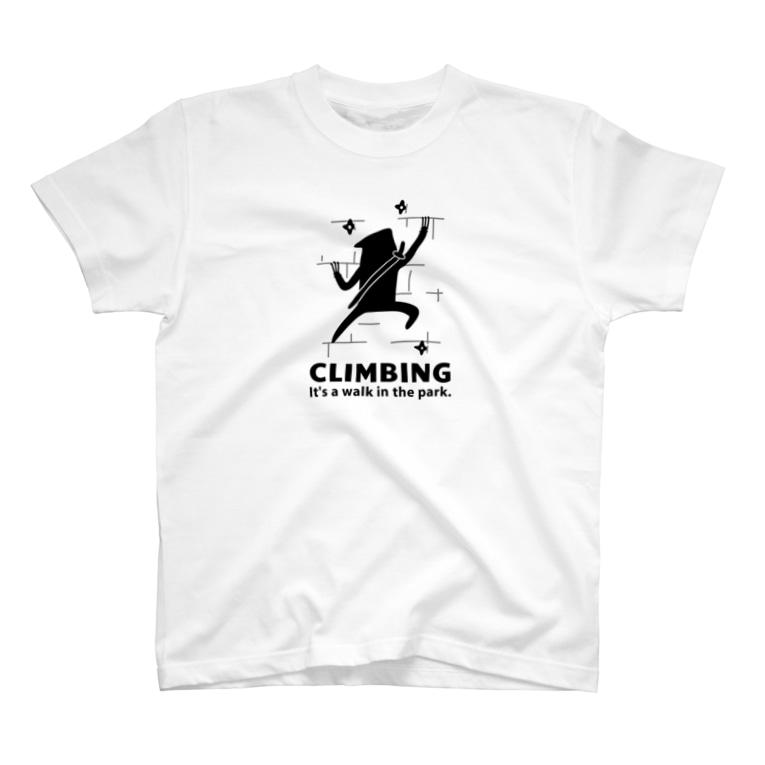 PokuStarのクライミング 忍者と爪 T-shirts