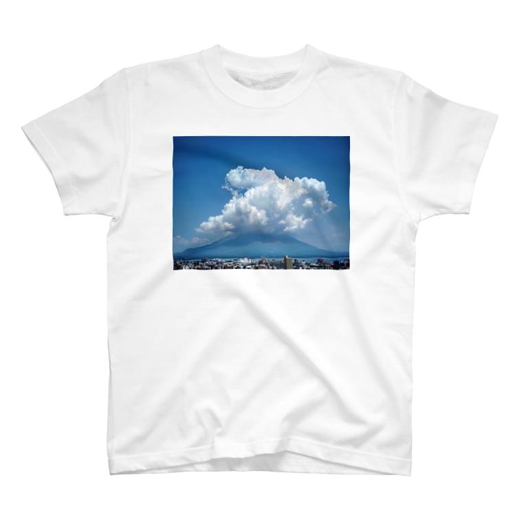 かごしまエモいぜの桜島3 T-shirts