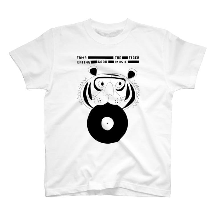 tama_the_tigerのEating Good Music - TAMA THE TIGER T-shirts