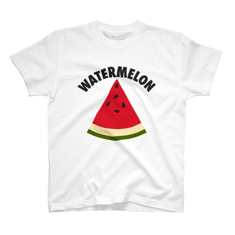 DRIPPEDのWATERMELON 扇形 T-shirts