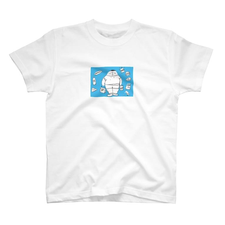 mushi-mushi-sakの太っちょくん T-shirts