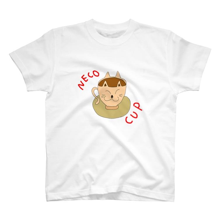 喫茶みどり信号のNECO CUP (色の変更可) T-shirts