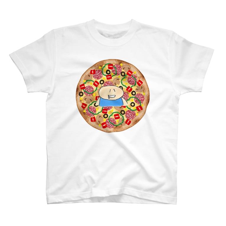 ayukorotaro5のピザぜつぼうや T-shirts