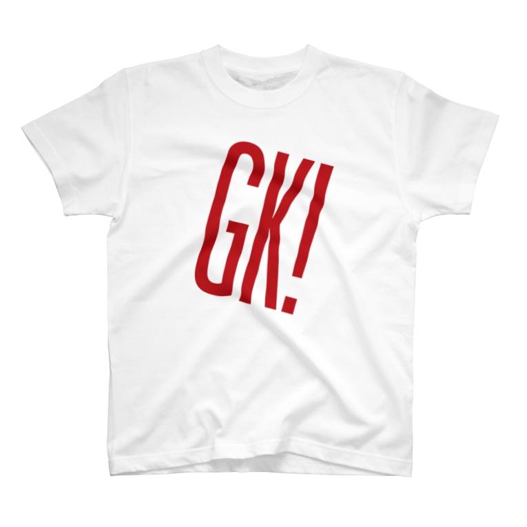 GK! WEB SHOPのGK!ロゴ(赤) T-shirts