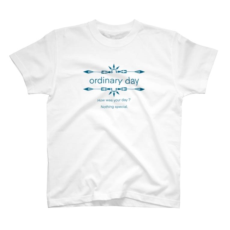 Hokorobi Shopの普通の日 T-shirts
