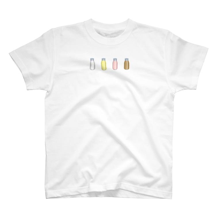 cosmicatiromの牛乳達 T-shirts
