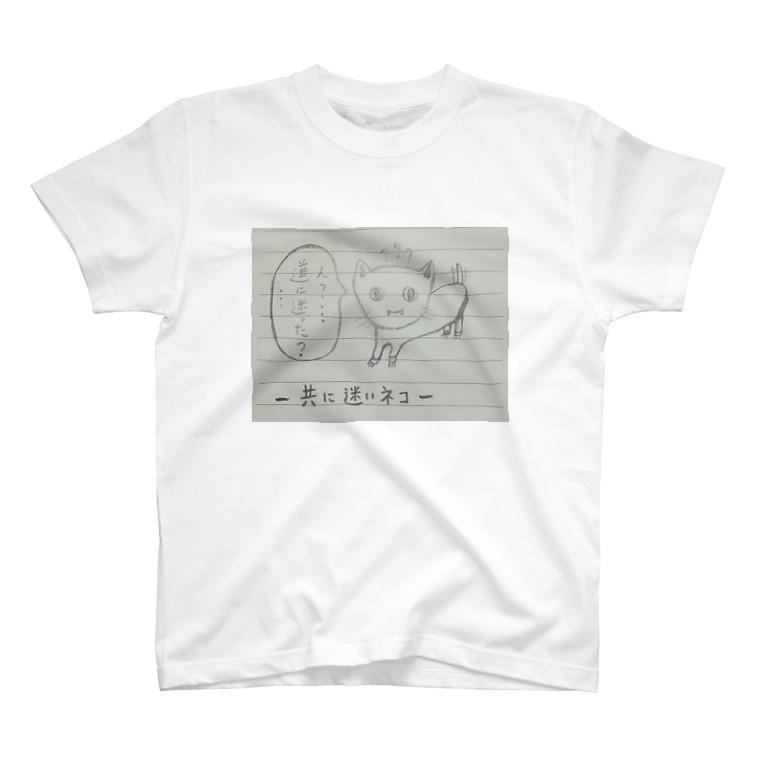 ゴロゴロニャ~祭りの共に迷いネコ              T-shirts