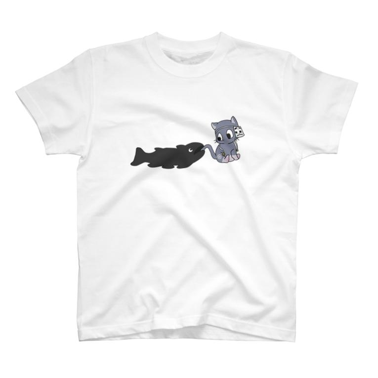 トーマス🚂PのパクッとシーラカンスくんTシャツ T-shirts
